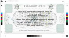 New Promissory Note