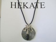 OOAK Hekate/Hecate Spiral Necklace With Owl by AmethystWaysFairies