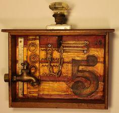 Junk Drawer Series - Kathy Moore Assemblage Artist
