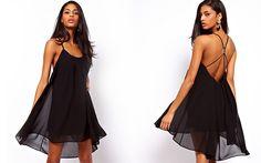 Vestido Evasê, disponível em 3 de cores.