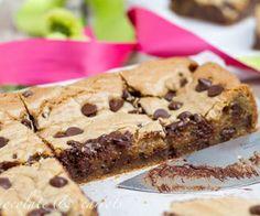 Brownie de galletita con chip de chocolate