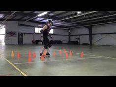 Roller Derby blocking: edge flow (minefield) - YouTube