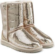 UGG Australia Sparkles Sequin Coated Suede Boots