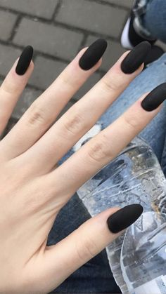 34 nail polish colors in trend in spring 2019 - nails - # spring . - 34 nail polish colors in trend in spring 2019 – nails – the - Nail Polish Trends, Nail Polish Colors, Gel Polish, Matte Black Nails, Nagellack Trends, Black Nail Designs, Oval Nails, Nail Decorations, Almond Nails