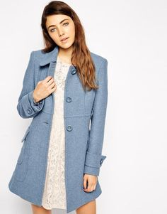 ASOS | ASOS Coat in A Line With Panel Detail at ASOS