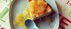 New York cheesecake con salsa all'ananas