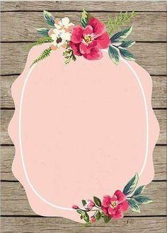 Pink wallpaper art with roses - print art Flower Backgrounds, Wallpaper Backgrounds, Iphone Wallpaper, Wallpaper Art, Galaxy Wallpaper, Art Buddha, Deco Floral, Binder Covers, Floral Border