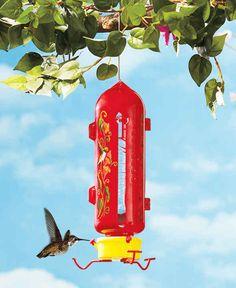 COLORFUL PLASTIC BOTTLE THE HUMM HUMMINGBIRD FEEDER Yard Garden Outdoor Decor #THEBIGDISCOUNT