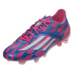 the latest 05050 5205b adidas F50 adizero FG (Neon PinkRunning WhiteSolar Blue) Messi Cleats