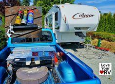 Fifth Wheel Lube Feature Image 5th Wheel Trailers, 5th Wheel Camper, Rv Trailers, Travel Trailers, Rv Camping Tips, Travel Trailer Camping, Camping And Hiking, Florida Camping, Rv Hacks