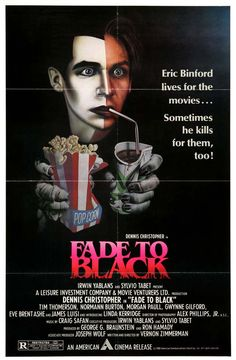 Fade to Black (1980) Movie Poster - This was a good movie but it had a great poster. I actually had this poster up in my room as a kid.