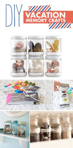Vacation memory crafts - cute idea for all those rocks my boys like to collect when we travel