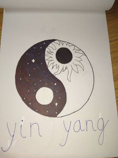 Drawing Yin and yang Yin Yang, My Drawings, Symbols, Letters, Art, Art Background, Kunst, Letter, Performing Arts