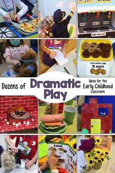 Dozens of dramatic play ideas for the early childhood classroom. Search by theme or simply find easy do-it-yourself pieces for your room. via @PlayToLearnPS