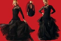 Amazon.com: SFD019BK Women's Ballroom Latin Salsa Tango Swing Dance Dress: Clothing