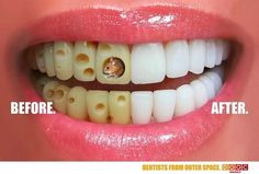 Dentist Office Ad - the left side is reason enough to visit!