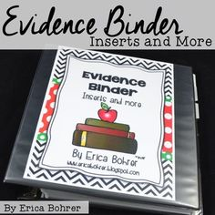 Are you required to provide an evidence binder as part of your teacher evaluation system? This packet is sure to ease your anxiety and make the process of creating an evidence binder a smooth one. My binder is based on the Danielson Framework but I have a Binder Tabs, Binder Dividers, Binder Covers, Teacher Binder, Teacher Organization, Teacher Stuff, Teacher Tools, Teacher Hacks, Closet Organization