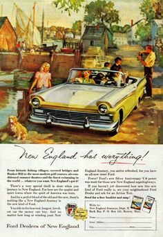 1957 Ford Convertible Advertisement