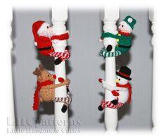 Crochet Christmas 4 x Toys Pattern Crochet Santa Pattern Crochet Panda, Crochet Toys, Christmas Toys, Christmas Stockings, Crochet Christmas, Crochet Numbers, Crochet Alphabet, Crochet Snowman, My Son Birthday