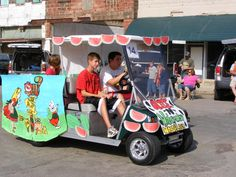 Every #summer, the Valliant #Watermelon Festival brings two days of fun to this small #Oklahoma town. Check out the car show, horseshoe tournament, live music, games and more while eating free slices of juicy watermelon.