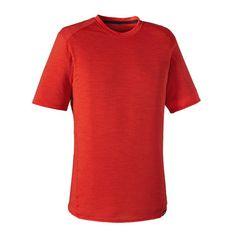 $65 Patagonia Men\'s Merino 1 Silkweight T-Shirt - Turkish Red THR