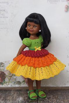 Вязаная одежда для кукол Paola Reina 32-34 см и аналогичных / Одежда для кукол / Шопик. Продать купить куклу / Бэйбики. Куклы фото. Одежда для кукол