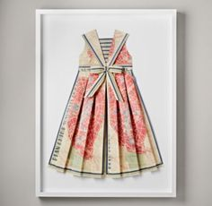 Hand-Folded Vintage Map Dress | Art | Restoration Hardware Baby & Child- $600?!  Maybe I could make this.