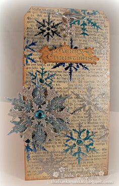 The Funkie Junkie: Challenge: 12 Tags of Christmas - Funkie Junkie Style - Week #7 | Christmas | Pinterest | Christmas tag, Cards and Christmas cards