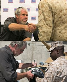 Ron Perlman - Left Handed