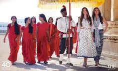 #Monsoon #Heritage Collection featuring Yasmin Le Bon and Amber Le Bon in India. #40yearsinfashion