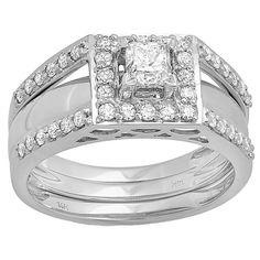 <li>Diamond bridal ring</li><li>14-karat white gold jewelry</li><li><a href='http://www.overstock.com/downloads/pdf/2010_RingSizing.pdf'><span class='links'>Click here for ring sizing guide</span></a></li>
