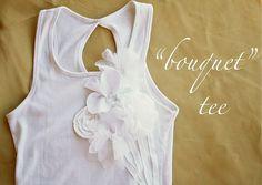 Bouquet t-shirt tutorial