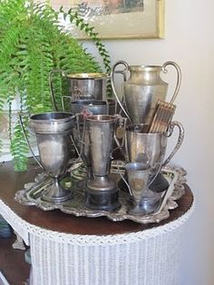 trophy  cups...so fun to collect!