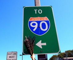 Road trip! Interstate 90 starts in Seattle (our neck of the woods!) & ends in Boston. #worldwidelavender