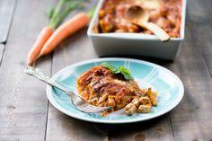 Jalotofu-kasvislasagne on Jalotofu I Love Food, A Food, Tofu, Meat, Chicken, Ethnic Recipes, Cubs