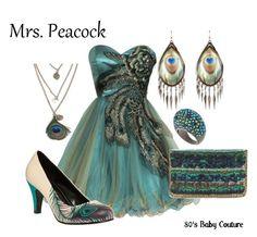 Mrs. Peacock costume ideas