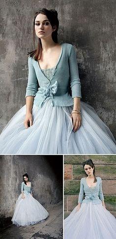 Kiera Knightley in blue gown