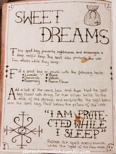 Stormbornwitch's GrimoireSo a few people asked to see some pages out of my new grimoire. So here is the cover page and the first spell in my new grimoire. This Sweet Dreams Spell is one that I've used. Wiccan Spell Book, Witch Spell, Dream Spell, Grimoire Book, New Moon Rituals, Witchcraft For Beginners, Under Your Spell, Eclectic Witch, Magick Spells