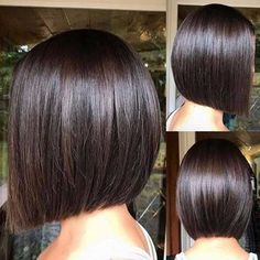 60 Beautiful and Convenient Medium Bob Hairstyles Sleek Blunt Brunette Bob A chic cut like this blunt bob is sure to have Demi approval. Flat-iron for a smooth sleek look. Minimal layering may give off a simple vibe, but this stunning cut is anything but. Bob Hairstyles 2018, Bob Hairstyles For Fine Hair, Medium Bob Hairstyles, Short Bob Haircuts, Haircut Bob, Bob Hairstyles Brunette, Teenage Hairstyles, Brunette Bob Haircut, Classic Bob Haircut