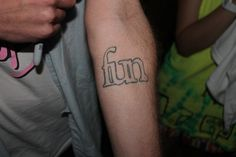 Nate gave himself a sharpie tattoo