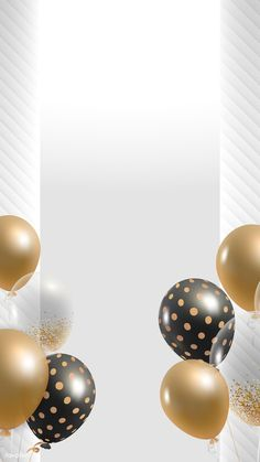 Birthday Background Design, Background Design Vector, Party Background, Cadre Design, Balloon Template, Black And White Balloons, Balloon Frame, Birthday Captions, Happy Birthday Wallpaper
