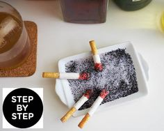 Mad Men Party Edible Chcolate Cigarette and Ash How-To Great for end of casino night **                                                                                                                                                                                 More