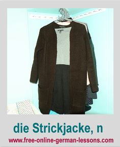 Learn German clothing vocab with us.