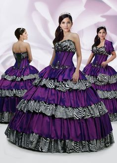 purple and zebra stripes prom dress omfg! were fightin over it! <3 @RaeAnne Leaf