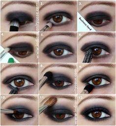 Simple Easy Step By Step Eye Makeup Tutorials: Natural eyeshadow tutorials