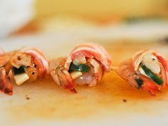 grilled bacon wrapped shrimp with jalapeno and cheese