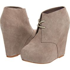 Trying to find my perfect wedge, suede, ankle bootie for the fall and winter...
