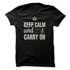 KEEP CALM AND CARRY ON BIKE SHIRT