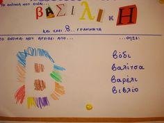 ΟΝΟΜΑ Greek Language, Create Your Own Website, Literacy Activities, Primary School, Back To School, Alphabet, Kindergarten, Crafts For Kids, Self
