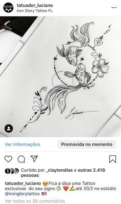 Hand drawing and painting style. Hand drawing and painting style. Hand drawing and painting style. Hand Tattoos, Body Art Tattoos, Sleeve Tattoos, Sternum Tattoos, Pisces Tattoo Designs, Henna Tattoo Designs, Koi Tattoo Design, Pices Tattoo, Koi Fish Tattoo